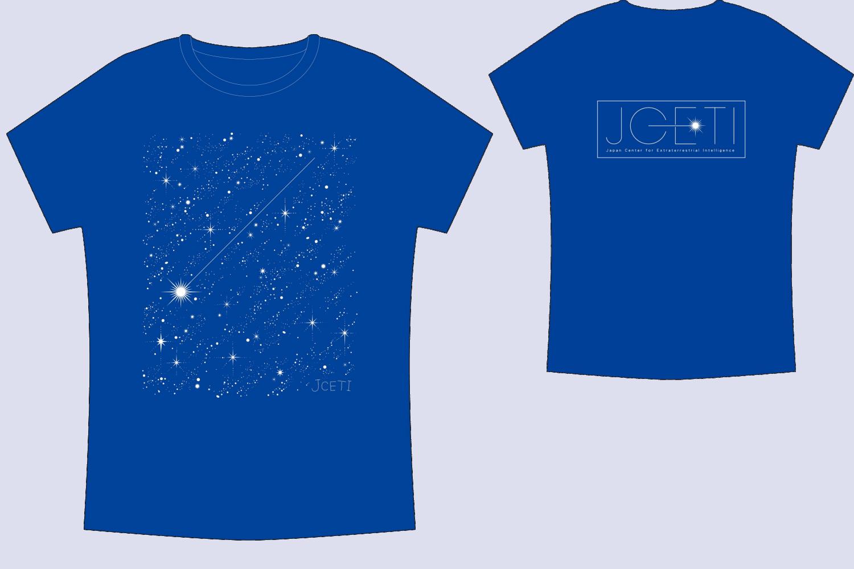 JCETIオリジナルTシャツ(ブルー白プリント)
